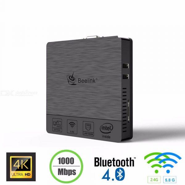 Beelink BT3 Pro Mini PC Intel X5-Z8350 HD Graphic Windows 10 USB 3.0 Dual Band 4GB DDR3 32GB EMMC Dual Band Bluetooth 4.0