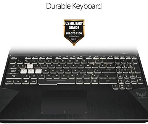 "ASUS TUF Gaming Laptop, 15.6"" 144Hz Full HD IPS-Type Display, Intel Core i7-9750H Processor, GeForce GTX 1650, 8GB DDR4, 512GB PCIe SSD, Gigabit Wi-Fi 5, Windows 10 Home, FX505GT-AB73 5"