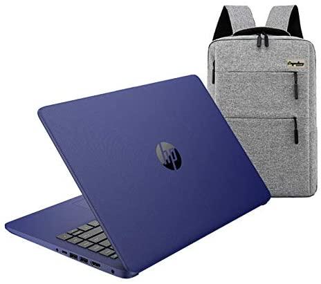 2020 HP 14 inch HD Laptop, Intel Celeron N4020 up to 2.8 GHz, 4GB DDR4, 64GB eMMC Storage, WiFi 5, WebCam, HDMI, Windows 10 S /Legendary Accessories (Google Classroom or Zoom Compatible) (Indigo Blue) 1