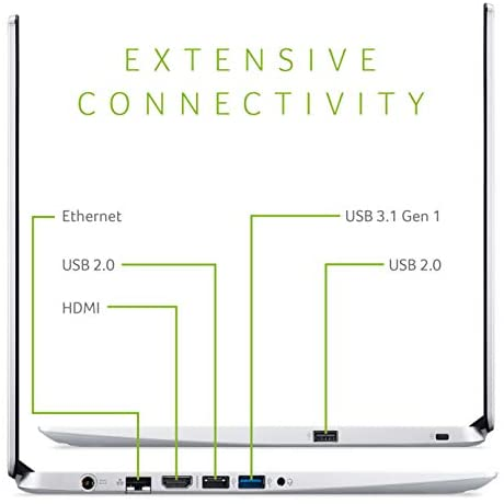 "Acer Aspire 5 Slim Laptop, 15.6"" Full HD IPS Display, AMD Ryzen 5 3500U, Vega 8 Graphics, 8GB DDR4, 256GB SSD, Backlit Keyboard, Windows 10 Home, A515-43-R5RE, Silver 4"