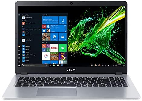 "Acer Aspire 5 Slim Laptop, 15.6"" Full HD IPS Display, AMD Ryzen 5 3500U, Vega 8 Graphics, 8GB DDR4, 256GB SSD, Backlit Keyboard, Windows 10 Home, A515-43-R5RE, Silver 6"