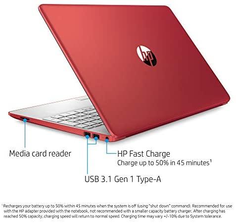 HP 15.6in Laptop (Intel Pentium Quad-Core N5000, 4GB RAM, 128GB SSD, HDMI, WiFi, Bluetooth, HD Webcam, Windows 10 S) (Renewed) 7