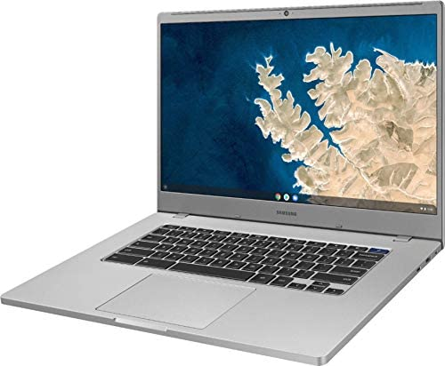 """Samsung Chromebook 4 15.6"""" FHD Laptop Computer for Business Student, Intel Celeron N4000 up to 2.6GHz, 4GB LPDDR4 RAM, 32GB eMMC, 802.11ac WiFi, Webcam, Chrome OS, iPuzzle MousePad, Online Class Ready 5"""