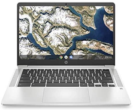 HP Chromebook 14-inch HD Laptop, Intel Celeron N4000, 4 GB RAM, 32 GB eMMC, Chrome (14a-na0010nr, Mineral Silver) 1