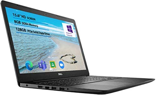 2021 Newest Dell Inspiron 15 3000 Laptop, 15.6 HD Display, Intel Pentium Silver 5030 Processor Windows 10 Pro 8GB RAM, 128GB SSD, Online Meeting, Business and Student Webcam, Black 1