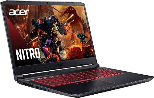 "Acer Nitro 5 17.3"" FHD Gaming Laptop Intel Core i5-10300H, NVIDIA GeForce GTX 1650 Ti,8GB DDR4 RAM, 512GB PCIE SSD, Backlit Keyboard, Woov Laptop Bag, Windows 10 Home Obsidian Black 3"
