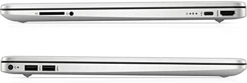 "2021 HP 15 15.6"" Micro-Edge FHD Touchscreen Laptop Computer_ Intel Quard-Core i7 1065G7 up to 3.9GHz_ 32GB DDR4 RAM_ 1TB PCIe SSD_ Type-C_ Remote Work_ Silver_ Windows 10_ BROAGE 64GB Flash Stylus 6"