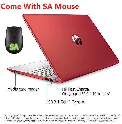 HP 15.6in Laptop (Intel Pentium Gold 6405U, 4GB RAM, 500GB Hard Drive, HDMI, WiFi, Bluetooth, HD Webcam, Windows 10 S) with SA M(Renewed) (Pentium Gold 6405U) 6