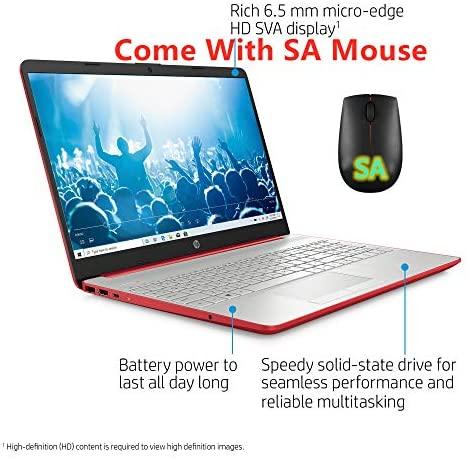 HP 15.6in Laptop (Intel Pentium Gold 6405U, 4GB RAM, 500GB Hard Drive, HDMI, WiFi, Bluetooth, HD Webcam, Windows 10 S) with SA M(Renewed) (Pentium Gold 6405U) 7