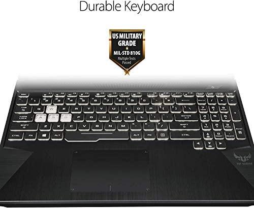 """Asus TUF Gaming Laptop, 15.6"""" IPS Full HD, AMD Quad-Core Ryzen 7 3750H, Nvidia GeForce GTX 1650, RGB Backlit Keyboard, Webcam, BT, Windows 10 + CUE Accessories (16GB DDR4, 512GB SSD) 6"""