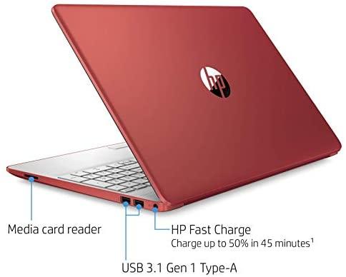 "2021 Premium HP Laptop Computer, 15.6"" HD Display,Intel Pentium Dual-core Gold 6405U 2.4 GHz, 12GB DDR4 RAM, 128GB SSD, HD Webcam, HDMI, Bluetooth, WiFi, Win10 S, 10+ Hours Battery, w/Marxsol Cables 4"