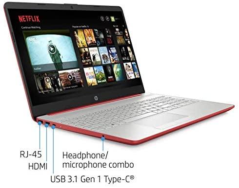 "2021 Premium HP Laptop Computer, 15.6"" HD Display,Intel Pentium Dual-core Gold 6405U 2.4 GHz, 12GB DDR4 RAM, 128GB SSD, HD Webcam, HDMI, Bluetooth, WiFi, Win10 S, 10+ Hours Battery, w/Marxsol Cables 2"