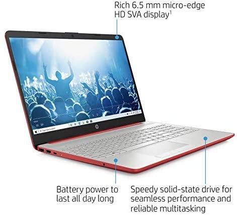"2021 Premium HP Laptop Computer, 15.6"" HD Display,Intel Pentium Dual-core Gold 6405U 2.4 GHz, 12GB DDR4 RAM, 128GB SSD, HD Webcam, HDMI, Bluetooth, WiFi, Win10 S, 10+ Hours Battery, w/Marxsol Cables 6"