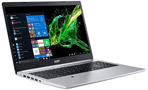 """Acer Aspire 5 Slim Laptop, 15.6"""" Full HD IPS Display, 10th Gen Intel Core i5-10210U, 8GB DDR4, 256GB PCIe NVMe SSD, Intel Wi-Fi 6 AX201 802.11ax, Fingerprint Reader, Backlit KB, A515-54-59W2, Silver 1"""