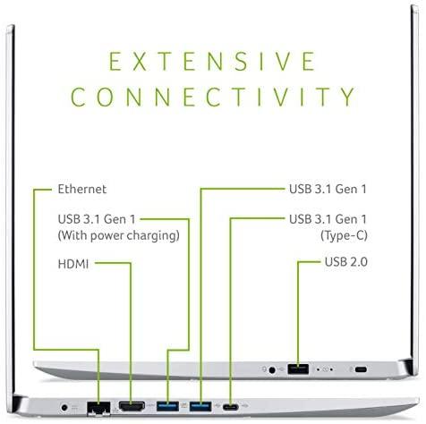 """Acer Aspire 5 Slim Laptop, 15.6"""" Full HD IPS Display, 10th Gen Intel Core i5-10210U, 8GB DDR4, 256GB PCIe NVMe SSD, Intel Wi-Fi 6 AX201 802.11ax, Fingerprint Reader, Backlit KB, A515-54-59W2, Silver 4"""