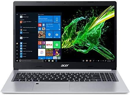 """Acer Aspire 5 Slim Laptop, 15.6"""" Full HD IPS Display, 10th Gen Intel Core i5-10210U, 8GB DDR4, 256GB PCIe NVMe SSD, Intel Wi-Fi 6 AX201 802.11ax, Fingerprint Reader, Backlit KB, A515-54-59W2, Silver 6"""