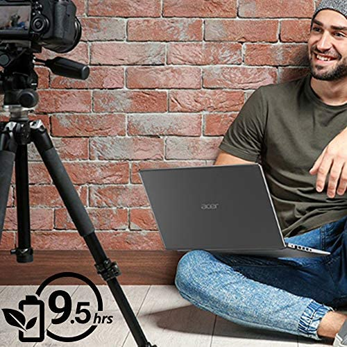 """Acer Aspire 5 Slim Laptop, 15.6"""" Full HD IPS Display, 10th Gen Intel Core i5-10210U, 8GB DDR4, 256GB PCIe NVMe SSD, Intel Wi-Fi 6 AX201 802.11ax, Fingerprint Reader, Backlit KB, A515-54-59W2, Silver 5"""