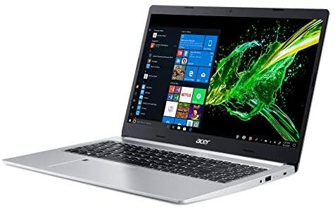 """Acer Aspire 5 Slim Laptop, 15.6"""" Full HD IPS Display, 10th Gen Intel Core i5-10210U, 8GB DDR4, 256GB PCIe NVMe SSD, Intel Wi-Fi 6 AX201 802.11ax, Fingerprint Reader, Backlit KB, A515-54-59W2, Silver 7"""