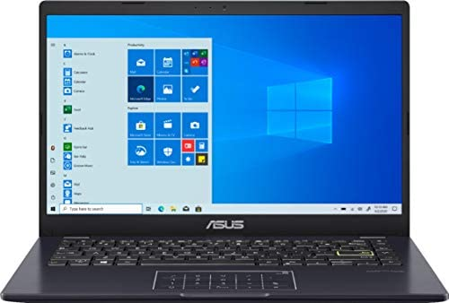 "ASUS E410 14.0"" HD (1366x768) LED Anti-Glare Laptop, Intel Celeron N4020, 4GB DDR4, 128GB eMMC, WiFi, HDMI, NumberPad, Media Card Reader, USB Type-C, Windows 10 S, Blue, 64GB ABYS MicroSD Card 1"