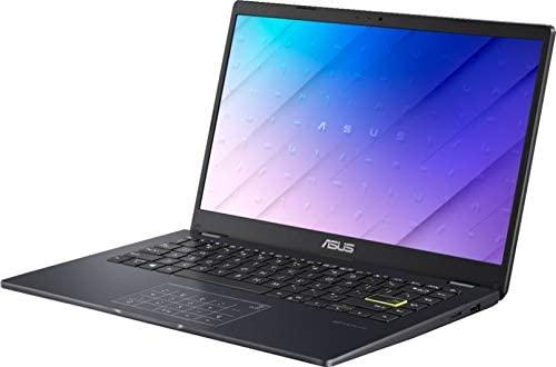 "ASUS E410 14.0"" HD (1366x768) LED Anti-Glare Laptop, Intel Celeron N4020, 4GB DDR4, 128GB eMMC, WiFi, HDMI, NumberPad, Media Card Reader, USB Type-C, Windows 10 S, Blue, 64GB ABYS MicroSD Card 5"