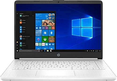 "2021 HP 14"" HD Slim and Light Laptop, Intel Celeron N4020 Processor, 4GB RAM, 64GB eMMC, Webcam, HDMI, Windows 10 S, 1 Year Microsoft 365 /IFT Accessories (Google Classroom or Zoom Compatible) White 2"