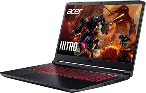 "Acer Nitro 5 17.3"" FHD Gaming Laptop Intel Core i5-10300H, NVIDIA GeForce GTX 1650 Ti,8GB DDR4 RAM, 512GB PCIE SSD, 1TB HDD, Backlit Keyboard, Woov Laptop Bag, Windows 10 Home Obsidian Black 4"