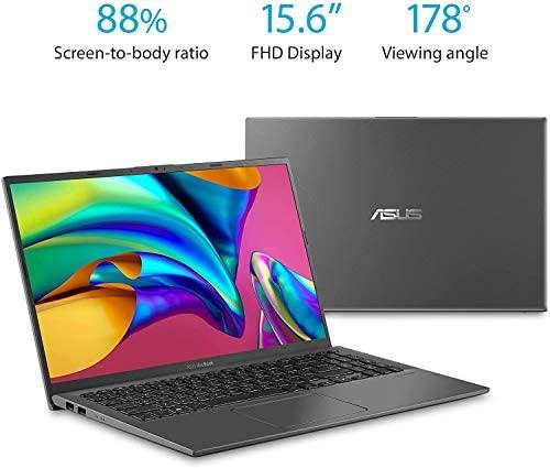 2021 ASUS F512DA VivoBook Laptop 15.6 FHD AMD 4-Core RYZEN5 3500U 12GB DDR4 512GB NVMe SSD Radeon Vega 8 Graphics USB-C Backlit Keyboard WIFI5 HDMI Fingerprint Windows 10 Pro w/ RE 32GB USB 3.0 Drive 6