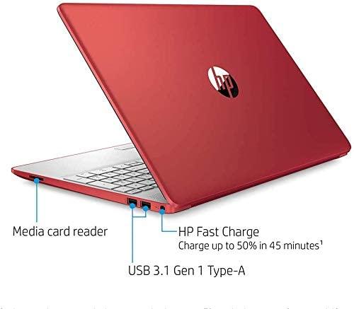 "2021 HP Flagship Pavilion 15.6"" HD Laptop Computer, Intel Dual-core Pentium Processor, 8GB RAM, 128GB SSD, Intel UHD Graphics 605, Bluetooth, USB-C, HDMI, Win 10, Scarlet Red with E.S 32GB USB Card 2"