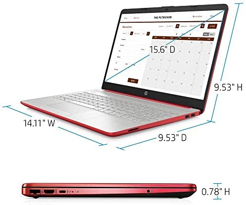 "2021 HP Flagship Pavilion 15.6"" HD Laptop Computer, Intel Dual-core Pentium Processor, 8GB RAM, 128GB SSD, Intel UHD Graphics 605, Bluetooth, USB-C, HDMI, Win 10, Scarlet Red with E.S 32GB USB Card 4"