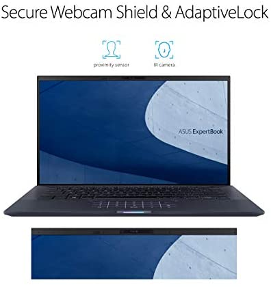 "ASUS ExpertBook B9 Intel EVO Thin & Light Laptop, 14"" FHD, Intel Core i7-1165G7, 1TB SSD, 16GB RAM, Military Grade Durable, Up to 20hr Battery, Webcam Privacy Shield, Win 10 Pro, Black, B9450CEA-XH75 6"