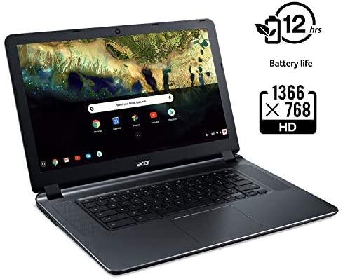 "Acer Chromebook 15 CB3-532-C42P, Intel Celeron N3060, 15.6"" HD Display, 4GB LPDDR3, 16GB eMMC, Granite Gray, Google Chrome 3"