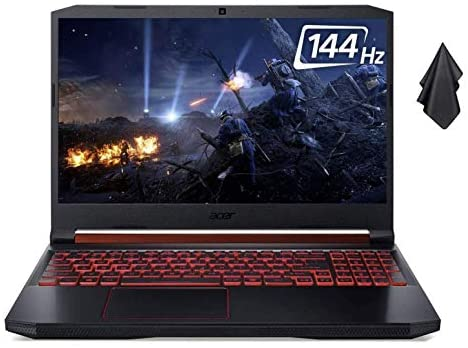 """2021 New Acer Nitro 5 Gaming Laptop computer, Intel 6-Core i7-9750H As much as 4.5 GHz, 15.6"""" Full HD IPS 144Hz Show, NVIDIA GeForce RTX 2060, 32GB DDR4, 1TB NVMe SSD, Backlit Keyboard, Win 10 + Oydisen Fabric 1"""