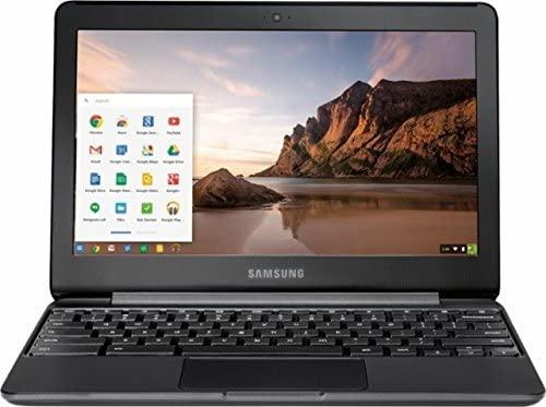 2018 Newest Samsung 11.6 Inch High Performance Chromebook, Intel Celeron N3060, 4GB Memory, 32GB eMMC Flash Memory, Bluetooth 4.0, USB 3.0, HDMI, Webcam, Chrome OS (Renewed) 1