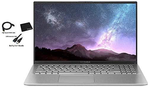 2020 ASUS VivoBook Ultra Thin and Lightweight 15.6'' Full HD Laptop Computer AMD Quad-Core Ryzen 5 3500U up to 3.7GHz 12GB DDR4 RAM 1TB PCIe SSD Radeon Vega Graphics Bluetooth Windows 10 BesTry bundle 1