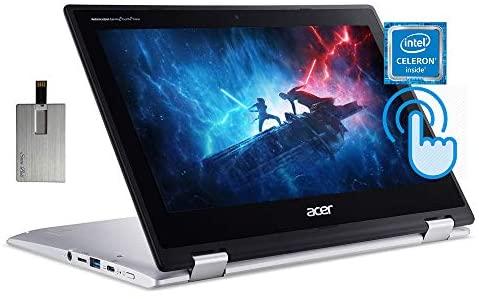 "2020 Acer Chromebook Spin 311 2-in-1 11.6"" HD Touchscreen Laptop Computer, Intel Celeron N4020 CPU, 4GB RAM, 64GB eMMC, Intel UHD Graphics, HD Webcam, Wi-Fi, Chrome OS, Silver, 32GB SnowBell USB Card 1"