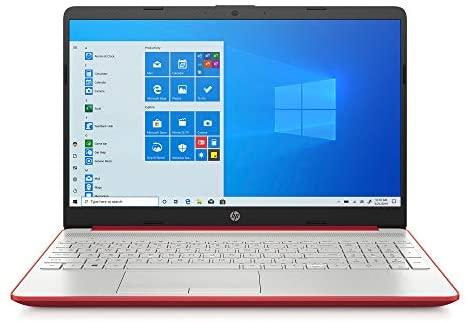 "2020 HP 15.6"" HD LED Display Laptop, Intel Pentium Gold 6405U Processor, 4GB DDR4 RAM, 128GB SSD, HDMI, Webcam, WI-FI, Windows 10 S, Scarlet Red 1"
