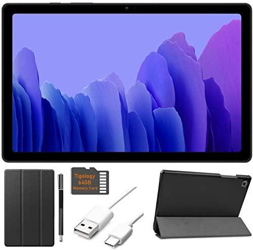 2020 Samsung Galaxy Tab A7 10.4'' (2000x1200) TFT Display Wi-Fi Tablet Bundle, Qualcomm Snapdragon 662, 3GB RAM, Bluetooth, Dolby Atmos Audio, Android 10 OS w/Tigology Accessories (32GB, Gray) 1