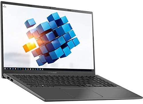 2021 ASUS VivoBook Ultra Thin and Light 15.6'' FHD Touchscreen Laptop Intel 10th gen Quad-Core i5-1035G1 up to 3.6GHz 16GB RAM 512GB SSD Fingerprint Chiclet Keyboard Webcam Windows 10 Aloha Bundle 1