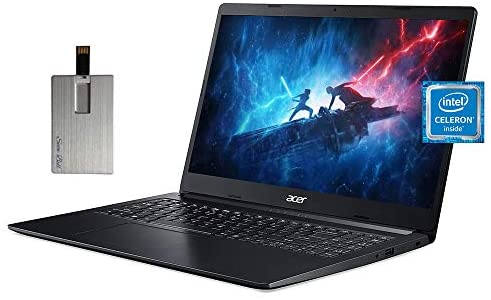 "2021 Acer Aspire 1 15.6"" FHD Laptop Computer, Intel Celeron N4020 Processor, 4GB RAM, 64GB eMMC, 1 Year Office 365, Intel UHD Graphics 600, Webcam, HDMI, Win 10 S, Black, 128GB SnowBell USB Card 1"
