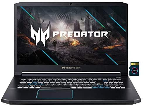 "2021 Acer Predator Helios 300 Premium Gaming Laptop I 17.3"" FHD 144Hz I Intel 6-Core i7-10750H I 64GB DDR4 1TB SSD + 1TB SSHD I GeForce RTX 2060 6GB I Backlit USB-C Win10 + Delca 32GB MicroSD Card 1"