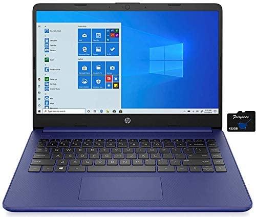 2021 HP 14 inch Laptop, AMD 3020e Processor, 4 GB RAM, 64 GB eMMC Storage, WiFi 5, Webcam, HDMI, Windows 10 S with Office 365 for 1 Year + Fairywren Card (Blue) 1