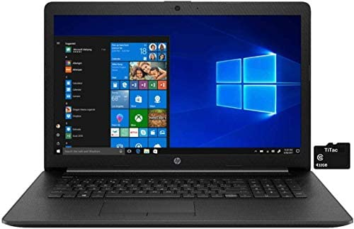 2021 HP 17.3 Laptop Computer HD+ Anti-Glare Display, 10th Gen Intel Core i3-1005G1 (Beats i5-7200U), 8GB DDR4 RAM, 1TB HDD, DVD RW, WiFi, HDMI, Webcam, Win 10 S + TiTac Card 1