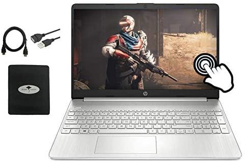 "2021 Latest HP 15.6"" FHD IPS Touchscreen Laptop computer, tenth Gen Intel i7-1065G7(As much as 3.9GHz), 16GB RAM, 512GB PCIe SSD, Intel Iris Plus Graphics, Webcam, USB-A&C, HDMI, WiFi, Win10, w/GM Equipment 1"
