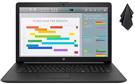 "2021 Newest HP Premium Business Laptop, 17.3"" HD+ Display, AMD Ryzen 5 4500U 6-Core Processor Up to 4.0 GHz (Beats i7-10510U), 16GB RAM, 1TB SSD, DVD-RW, Webcam, HDMI, Black, Win 10 + Oydisen Cloth 1"