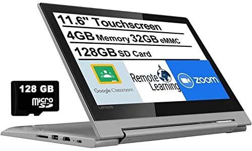 "2021 Latest Lenovo Flex 3 11.6"" HD Touchscreen 2-in-1 Chromebook Laptop computer, MediaTek MT8173C Quad-Core CPU, 4GB RAM, 160GB Area(32GB eMMC+AllyFlex 128GB MSD), Bluetooth, Webcam, HDMI, USB-C, Chrome OS 1"