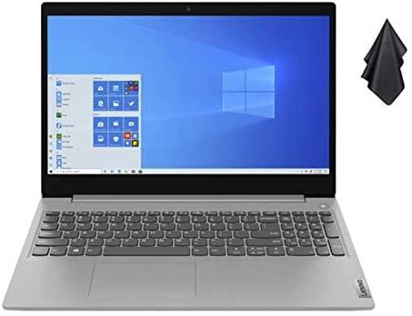 "2021 Newest Lenovo IdeaPad 3 15.6"" HD Touch Screen Laptop, Intel Quad-Core i5-1035G1 Up to 3.6GHz (Beats i7-8550U), 12GB DDR4 RAM, 256GB PCI-e SSD, Webcam, WiFi 5, HDMI, Windows 10 S + Oydisen Cloth 1"