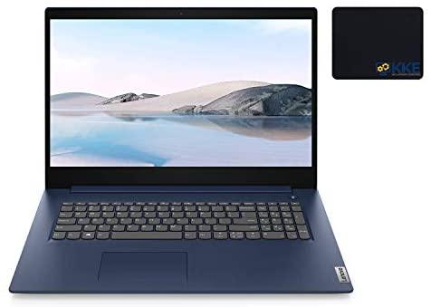 "2021 Newest Lenovo IdeaPad 3 Laptop, 17.3"" HD+, Intel Core i5-1035G1 Processor, 20GB DDR4 RAM, 1TB SSD, HDMI, Bluetooth, Wi-Fi, Webcam, Online Class, Zoom, Windows 10, Abyss Blue, KKE Bundle 1"