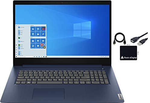 "2021 Newest Lenovo IdeaPad3 17.3"" HD+ Home and Business Laptop Computer Quad-Core i5-1035G1 20GB RAM DDR4 512GB M.2 NVMe SSD Intel UHD Graphics HDMI Bluetooth Webcam Windows 10 Pro w/ RE Accessories 1"
