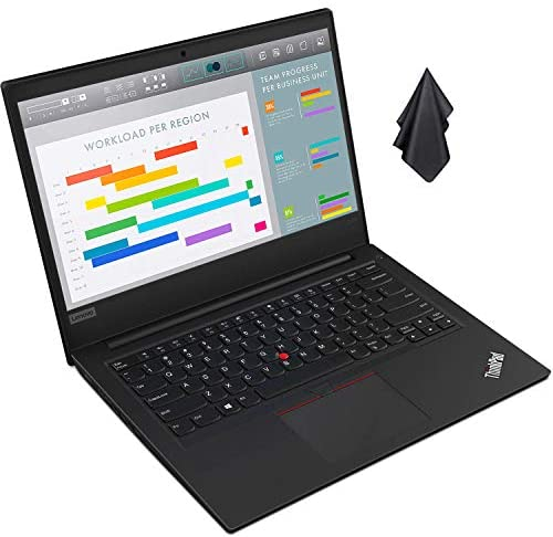 "2021 Newest Lenovo ThinkPad Business Laptop, 14"" HD Display, AMD Ryzen 5 3500U Quad-Core Processor (Up to 3.7 GHz), 16 GB Ram, 1 TB SSD, Compact Design, Long Battery Life, Win 10 Pro + Oydisen Cloth 1"