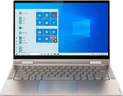 "2021 Newest Lenovo Yoga C740 2-in-1 Laptop 14"" FHD IPS Touchscreen Intel 4-Core i5-10210U 8GB DDR4 256GB PCIe SSD Backlit Keyboard Fingerprint USB Type-C Mica Windows 10 Home w/ RE 32GB USB 3.0 Drive 1"